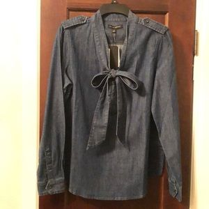 Banana Republic denim bow top